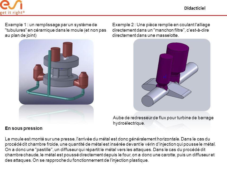 Didacticiel Exemple 1 : un remplissage par un système de tubulures en céramique dans le moule (et non pas au plan de joint)