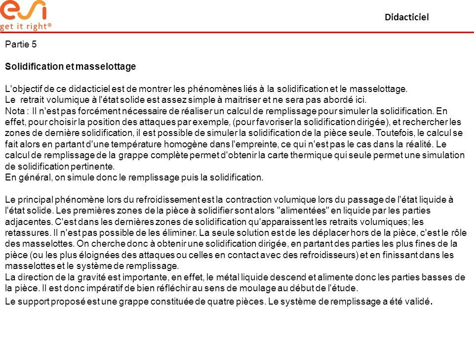 Didacticiel Partie 5 Solidification et masselottage