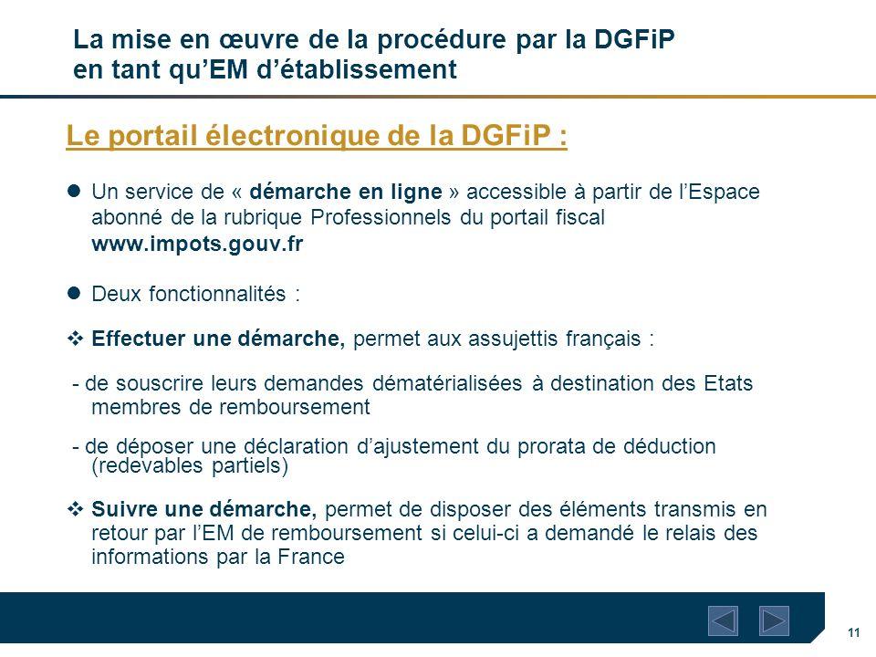 Le portail électronique de la DGFiP :