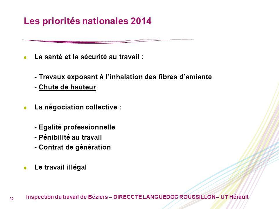 Les priorités nationales 2014