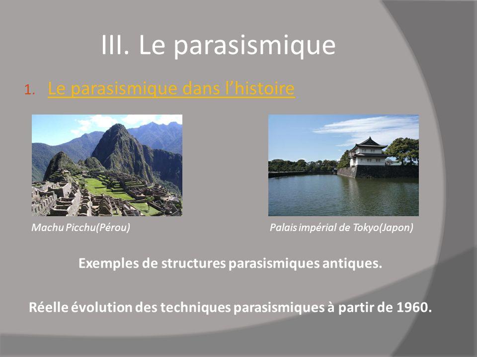 III. Le parasismique Le parasismique dans l'histoire