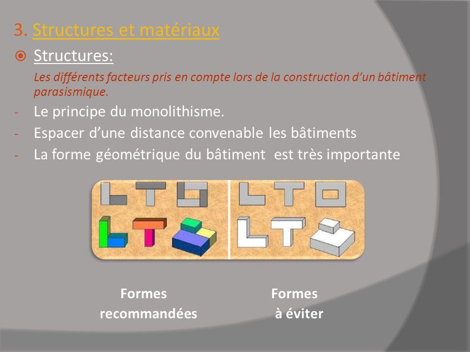 3. Structures et matériaux