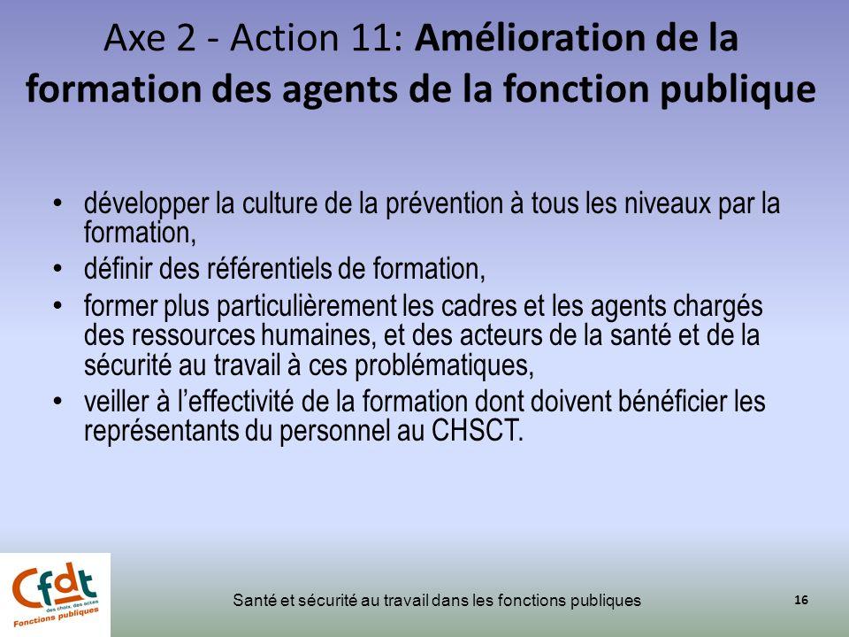 Axe 2 - Action 11: Amélioration de la formation des agents de la fonction publique