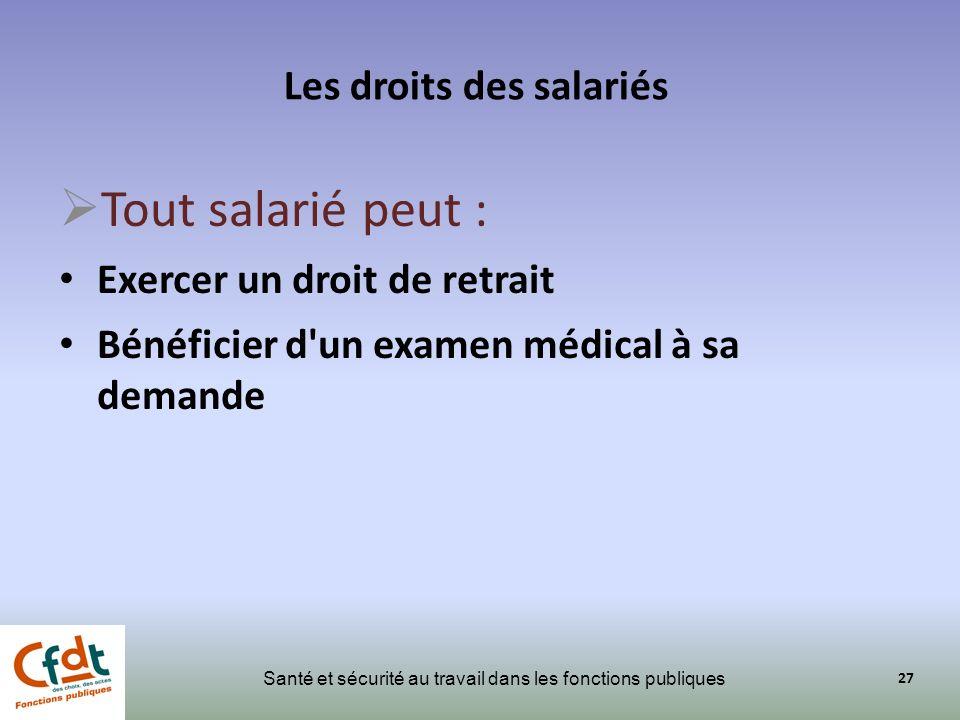 Les droits des salariés