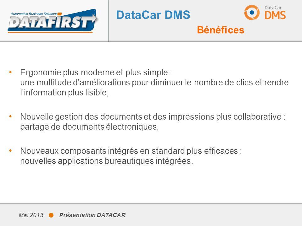 DataCar DMS Bénéfices.