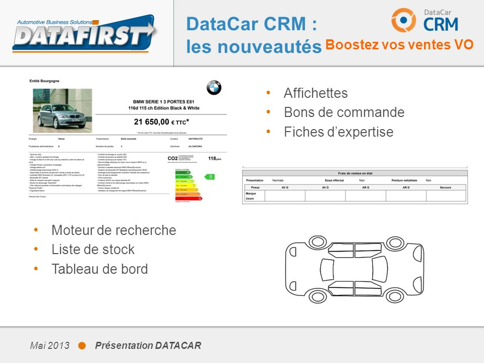 DataCar CRM : les nouveautés
