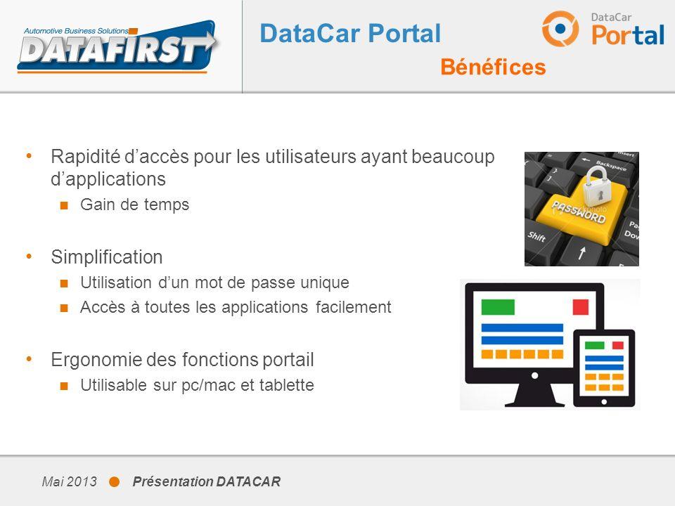 DataCar Portal Bénéfices