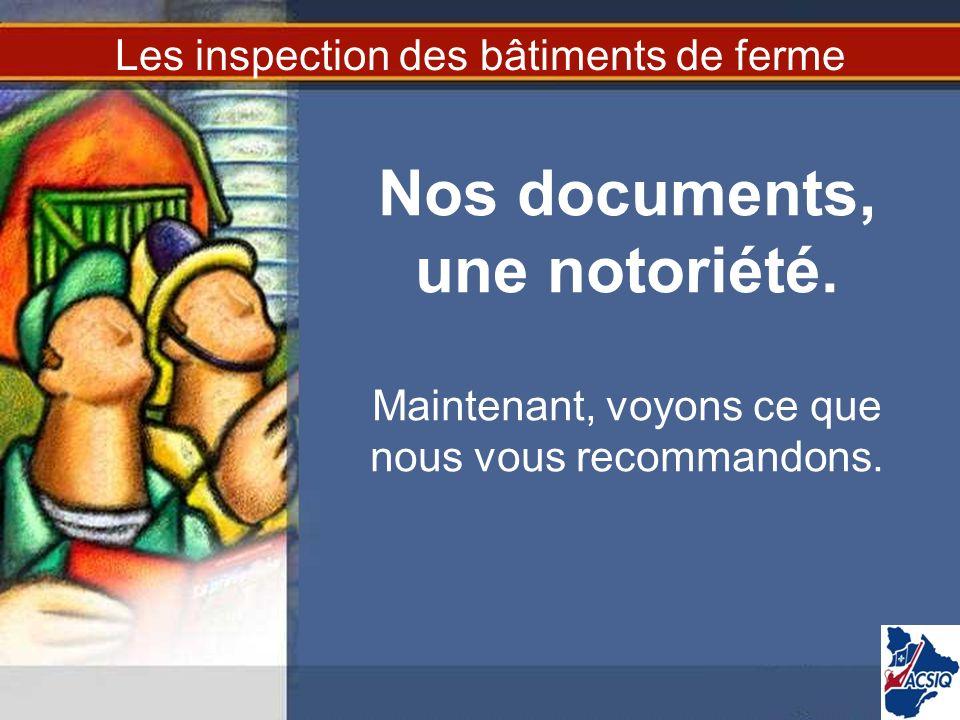 Les inspection des bâtiments de ferme