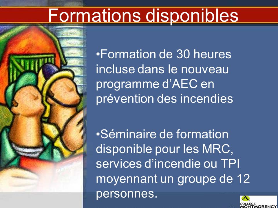 Formations disponibles