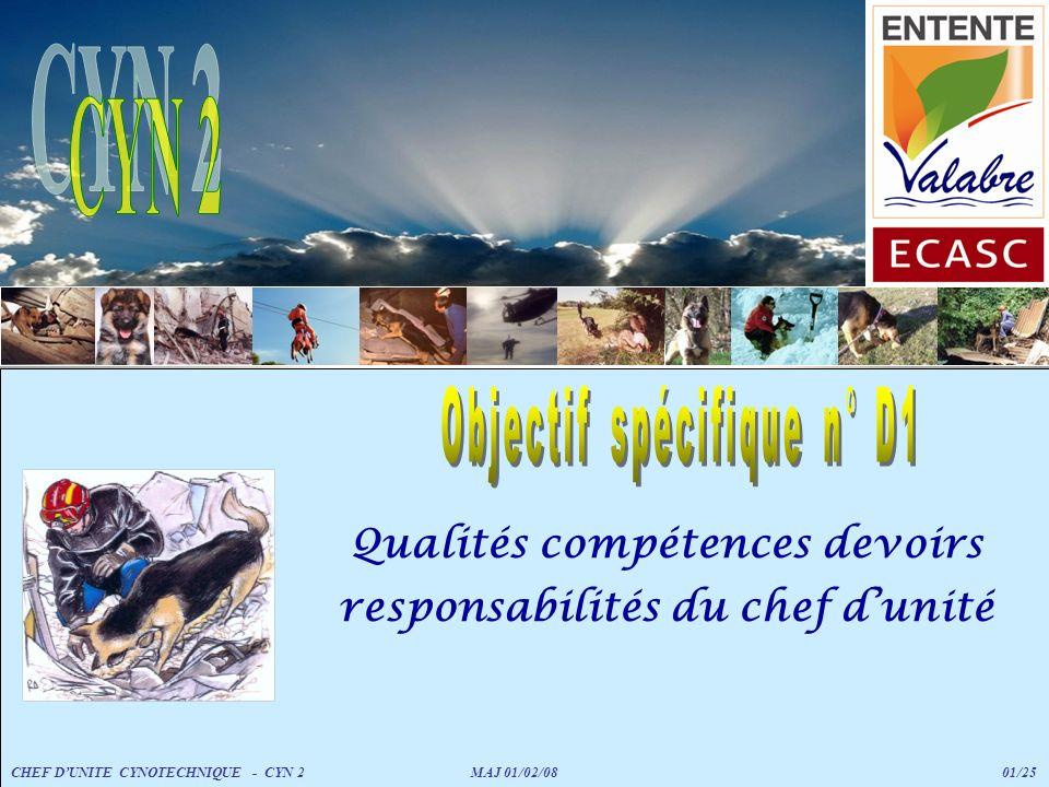 Qualités compétences devoirs responsabilités du chef d'unité