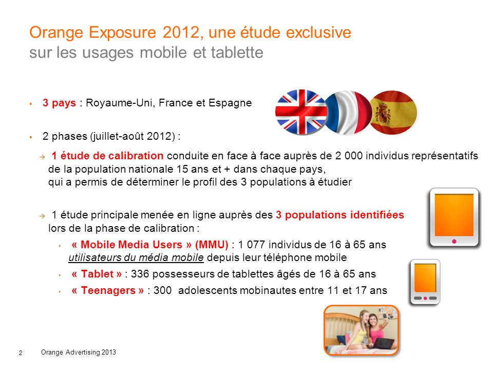 Orange Exposure 2012, une étude exclusive sur les usages mobile et tablette