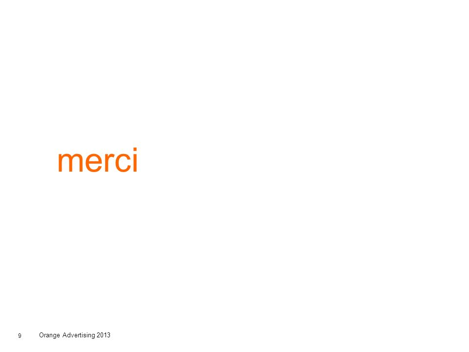 merci Orange Advertising 2013