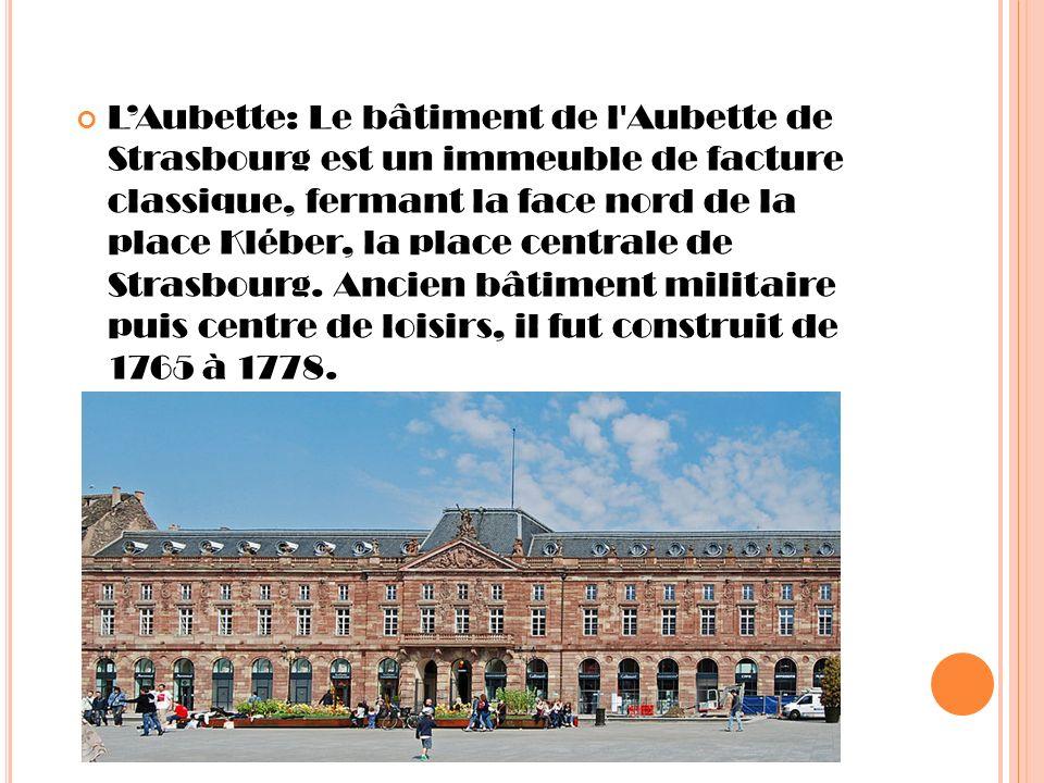 L'Aubette: Le bâtiment de l Aubette de Strasbourg est un immeuble de facture classique, fermant la face nord de la place Kléber, la place centrale de Strasbourg.