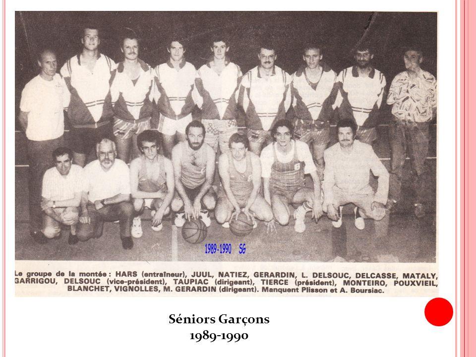 Séniors Garçons 1989-1990