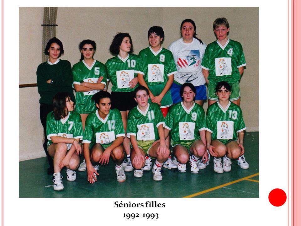Séniors filles 1992-1993