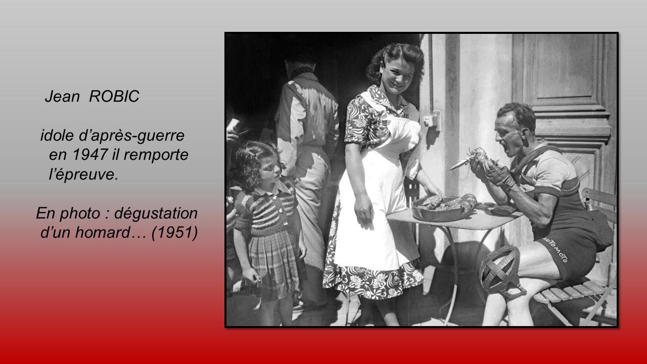 Jean ROBIC idole d'après-guerre. en 1947 il remporte.