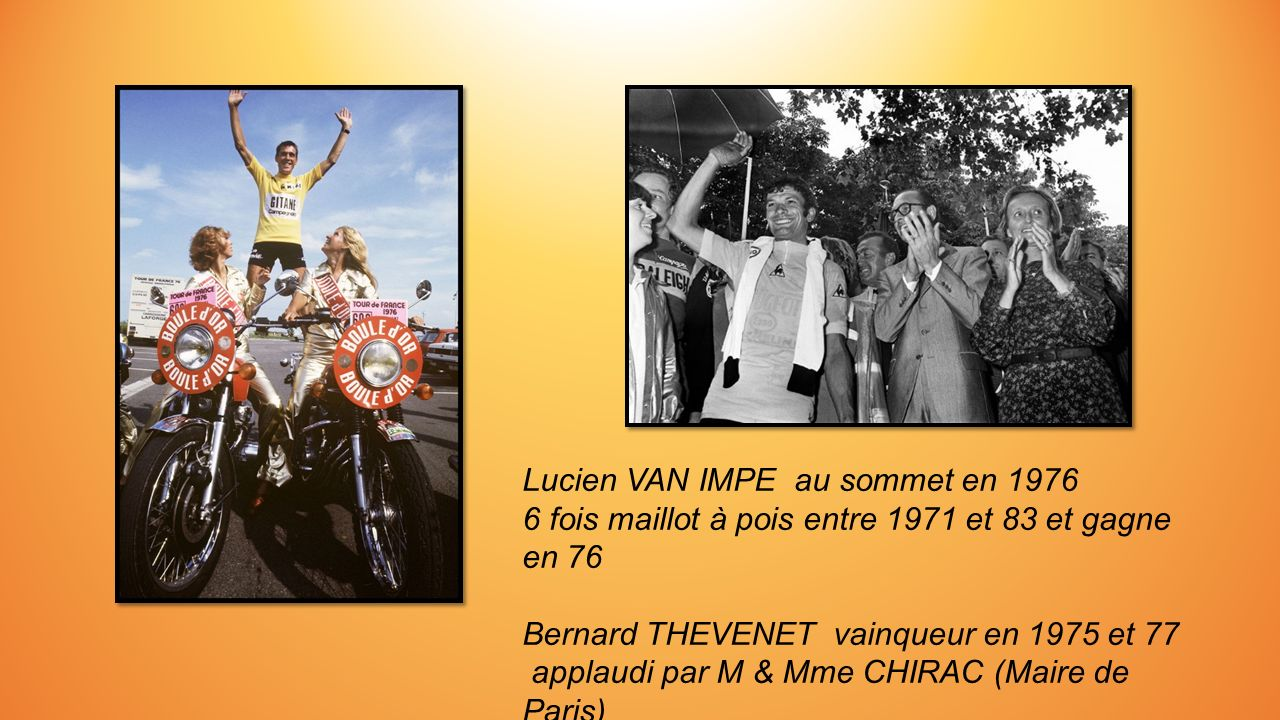 Lucien VAN IMPE au sommet en 1976