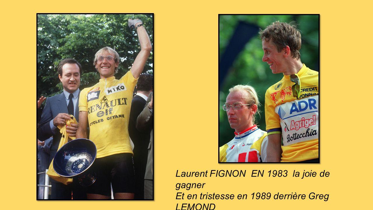 Laurent FIGNON EN 1983 la joie de gagner