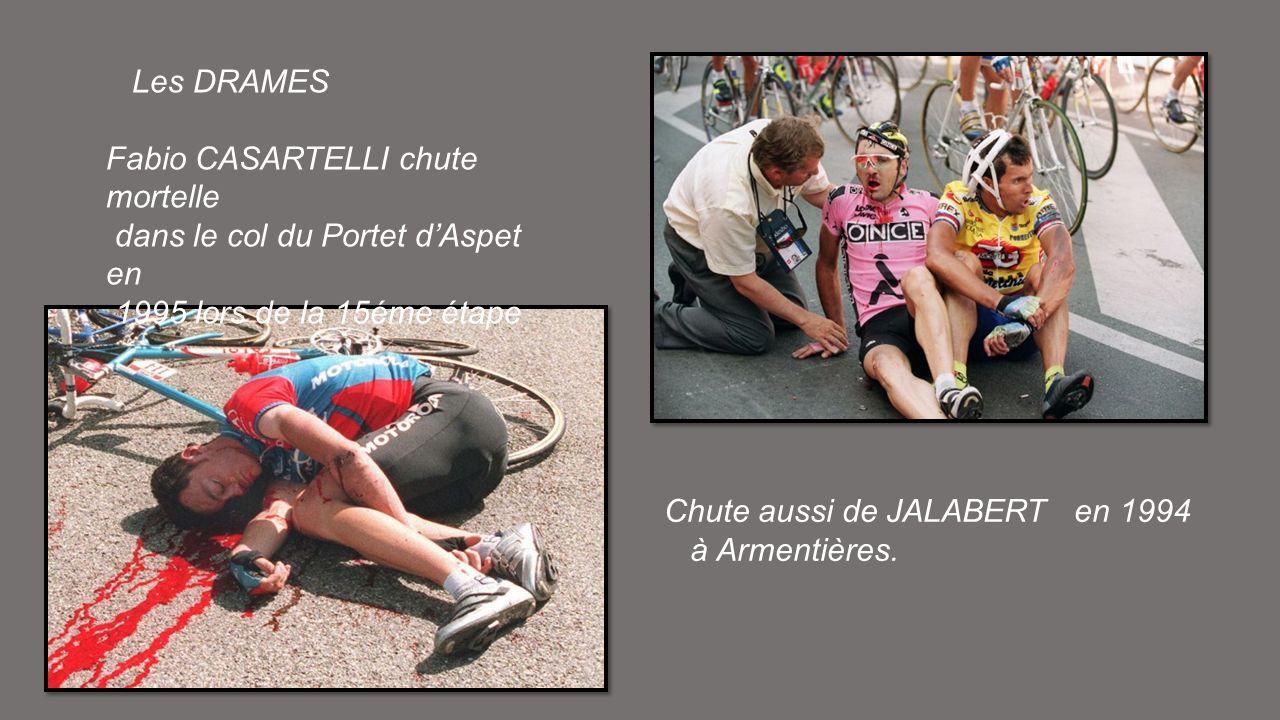 Les DRAMES Fabio CASARTELLI chute mortelle. dans le col du Portet d'Aspet en. 1995 lors de la 15éme étape.