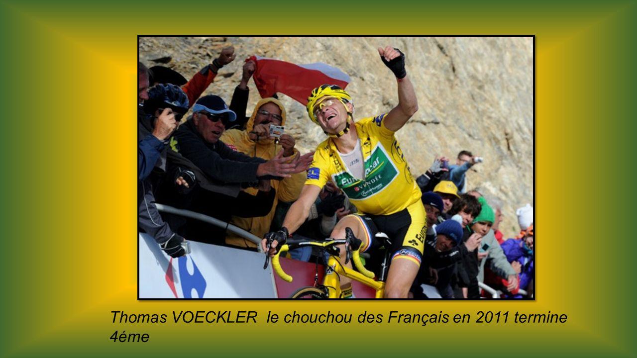 Thomas VOECKLER le chouchou des Français en 2011 termine 4éme
