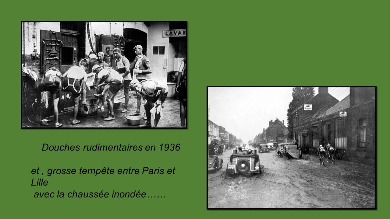 Douches rudimentaires en 1936