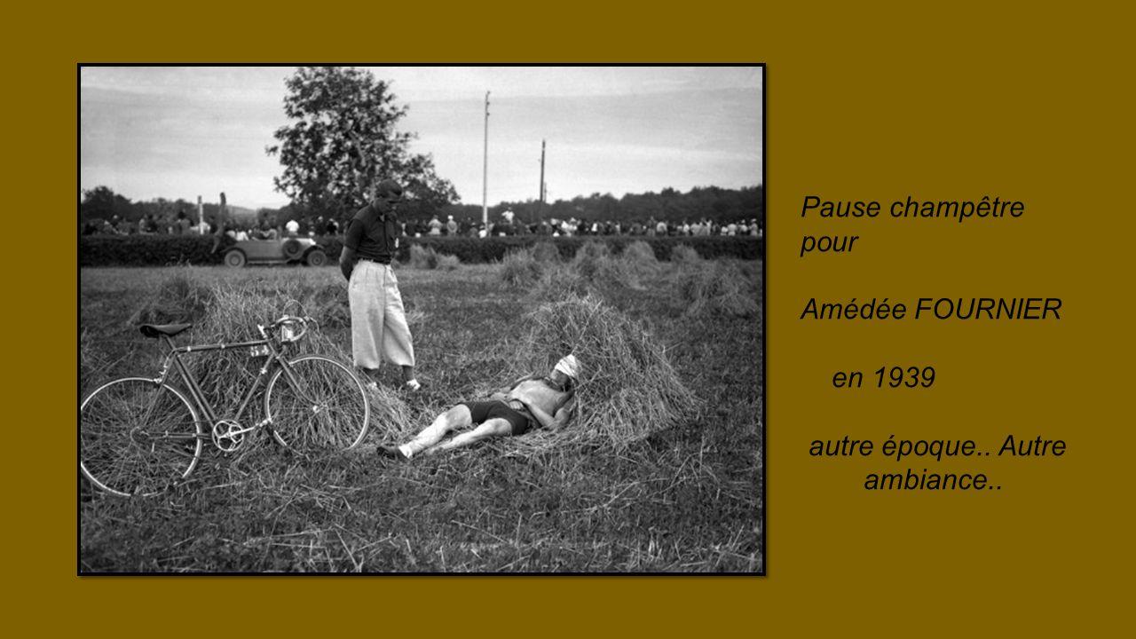 Pause champêtre pour Amédée FOURNIER en 1939 autre époque.. Autre ambiance..