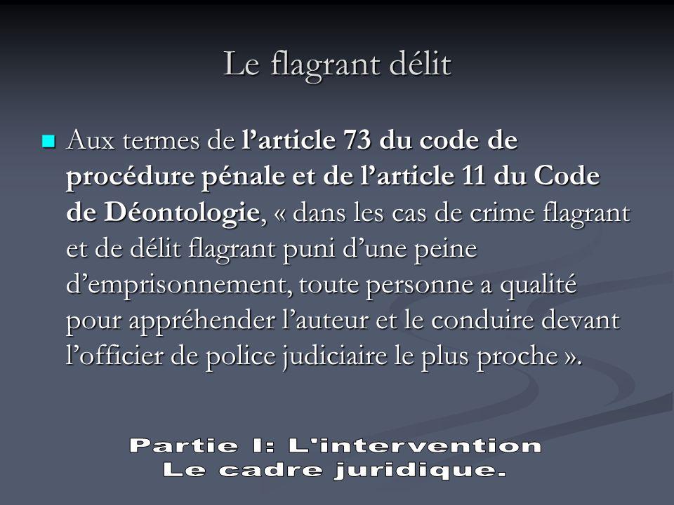 Partie I: L intervention