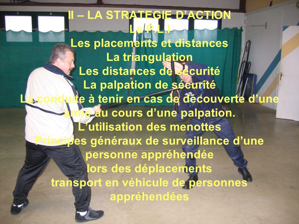 II – LA STRATEGIE D'ACTION Le P. L