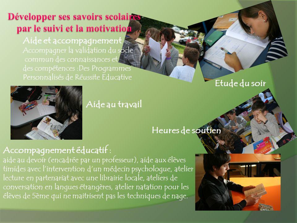 Développer ses savoirs scolaires par le suivi et la motivation
