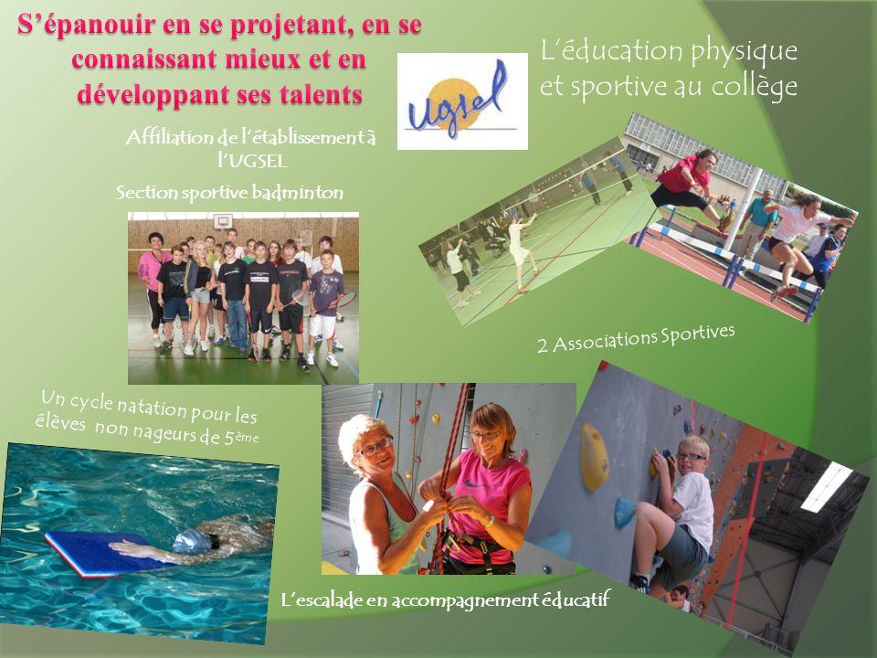 L'éducation physique et sportive au collège