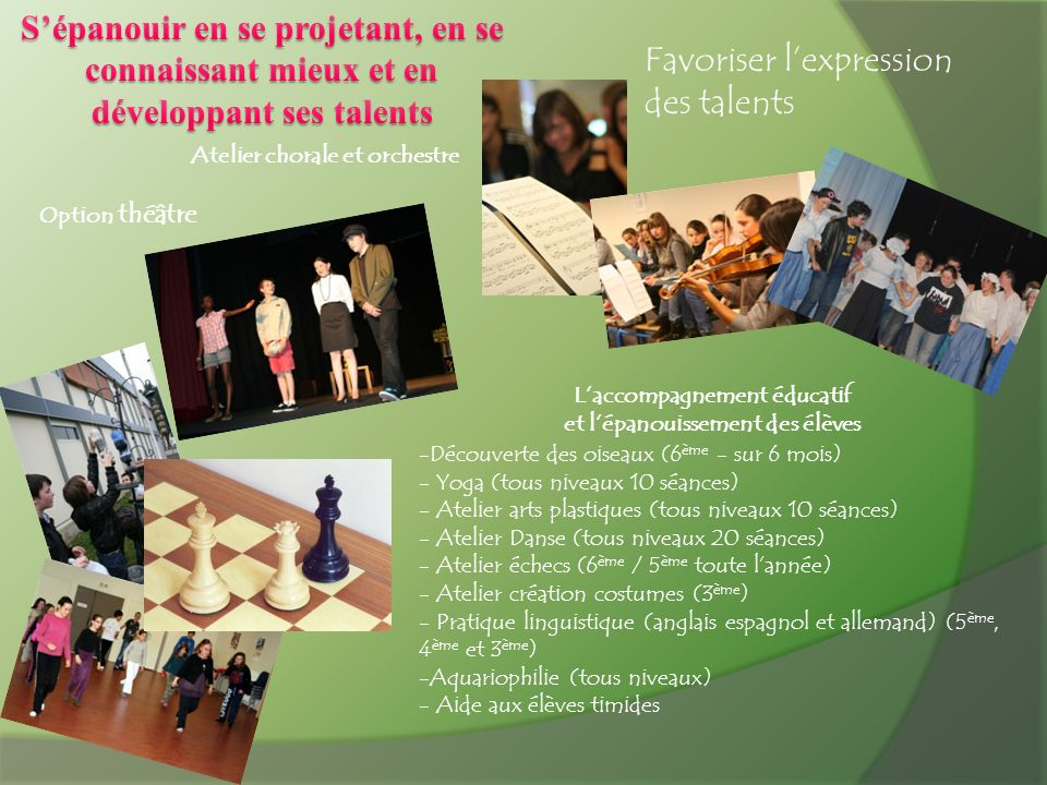 Favoriser l'expression des talents