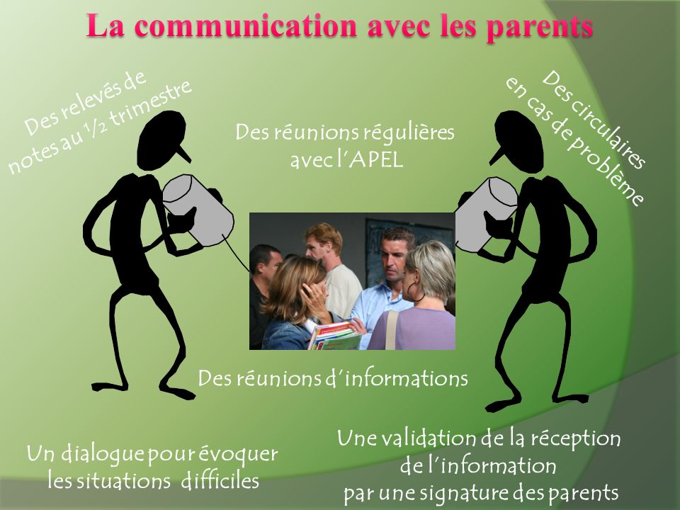 La communication avec les parents