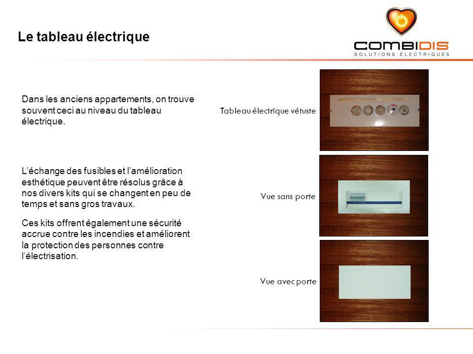Le tableau électrique Tableau électrique vétuste. Dans les anciens appartements, on trouve souvent ceci au niveau du tableau électrique.