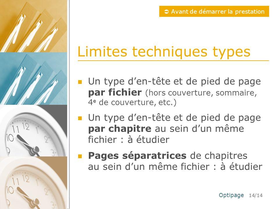 Limites techniques types