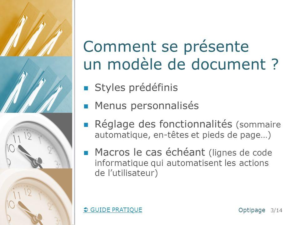 Comment se présente un modèle de document