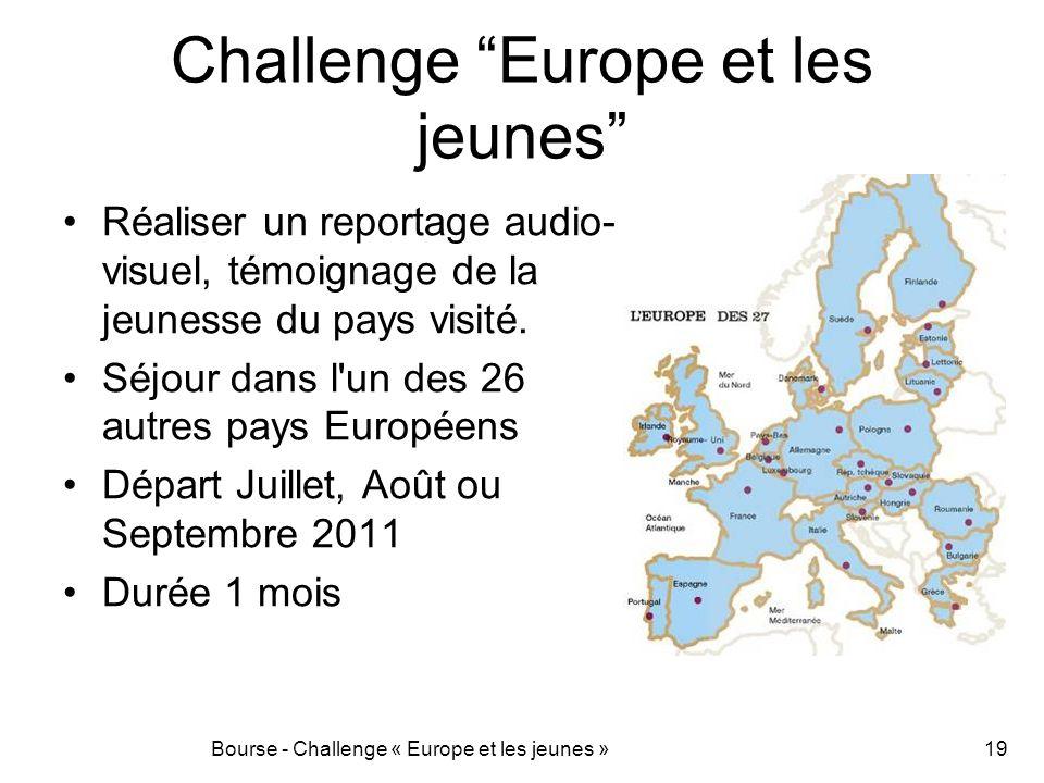Challenge Europe et les jeunes