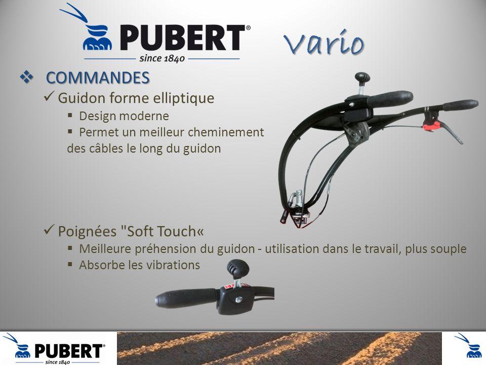 Vario COMMANDES Guidon forme elliptique Poignées Soft Touch«
