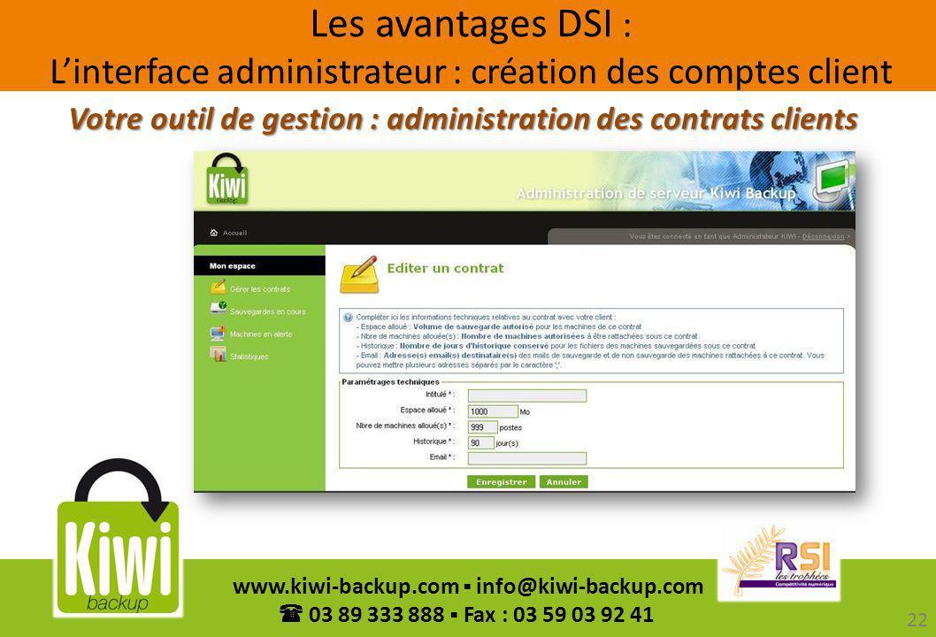 Votre outil de gestion : administration des contrats clients