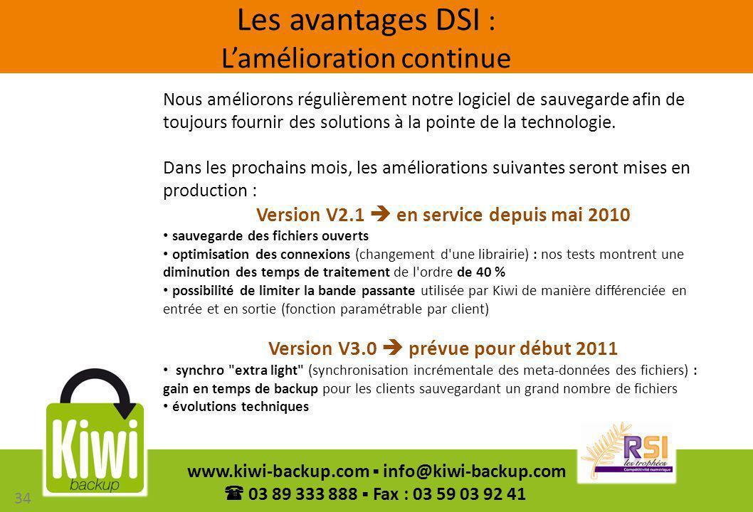 Les avantages DSI : L'amélioration continue