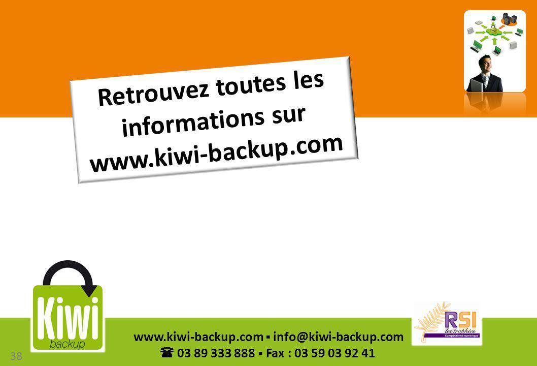 Retrouvez toutes les informations sur www.kiwi-backup.com