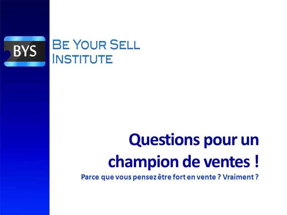 Questions pour un champion de ventes