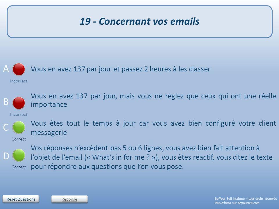 19 - Concernant vos emails