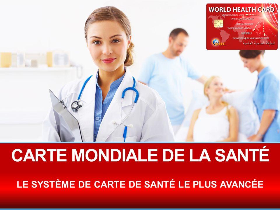 CARTE MONDIALE DE LA SANTÉ