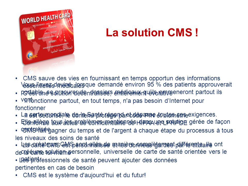 THE SYSTEM La solution CMS !