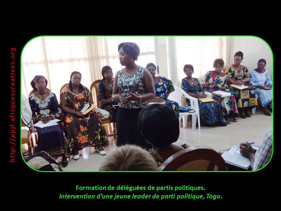 http://ppjf.afriquescreatives.org Formation de déléguées de partis politiques.