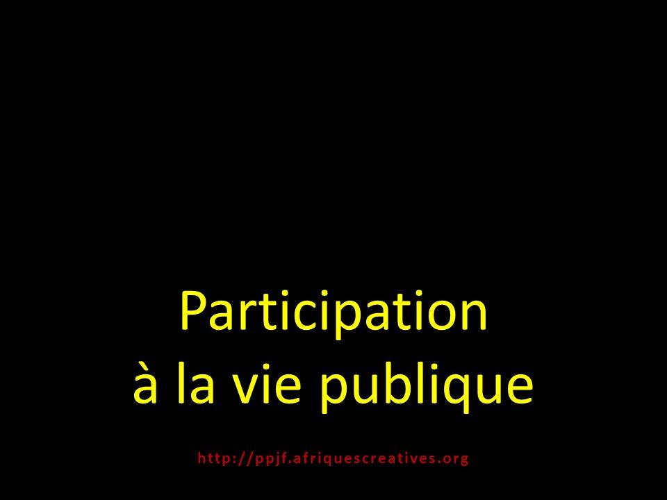 Participation à la vie publique