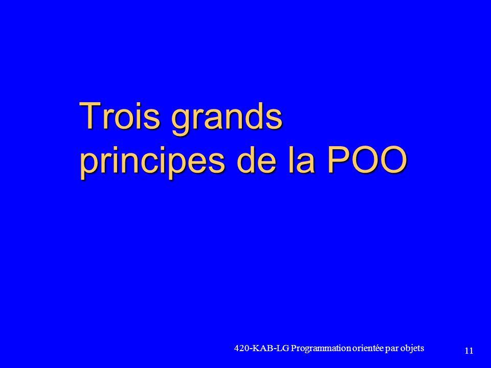 Trois grands principes de la POO