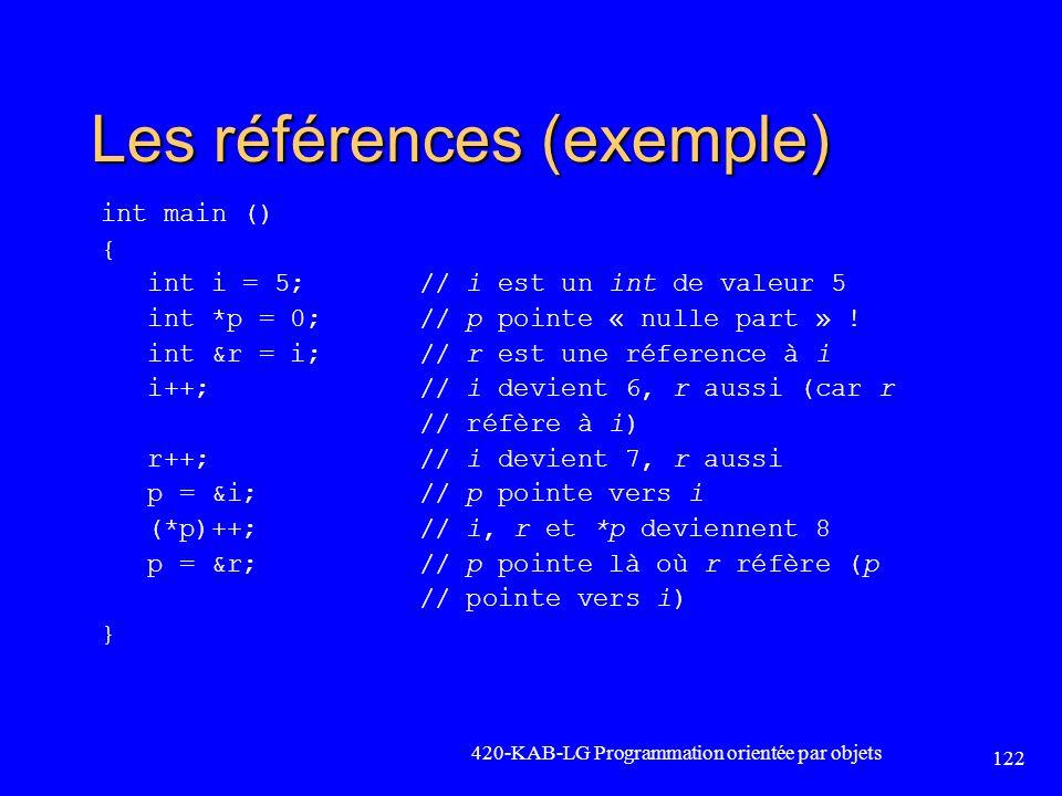 Les références (exemple)