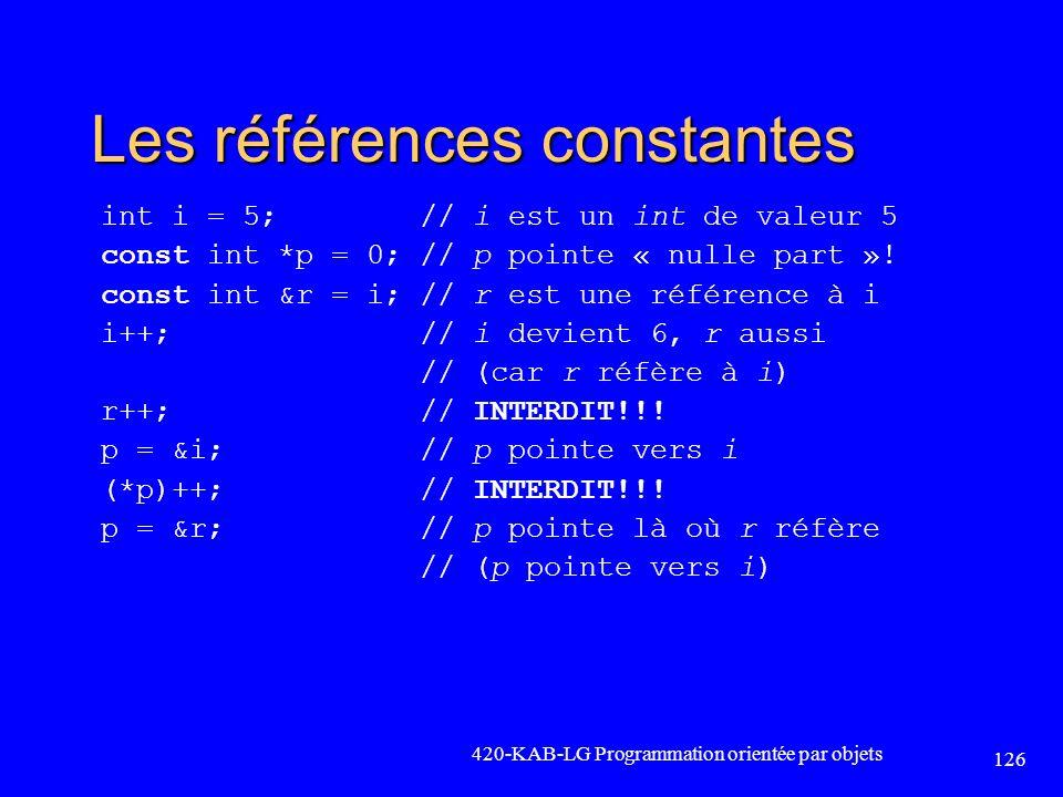 Les références constantes