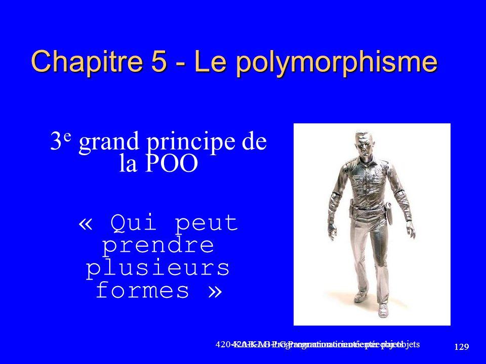 Chapitre 5 - Le polymorphisme